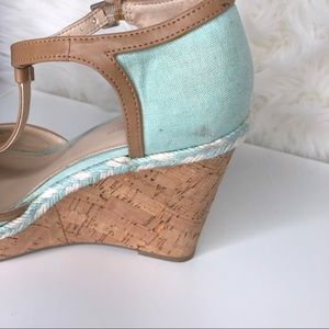 Tommy Hilfiger Shoes - TOMMY HILFIGER   turquoise braided cork wedge